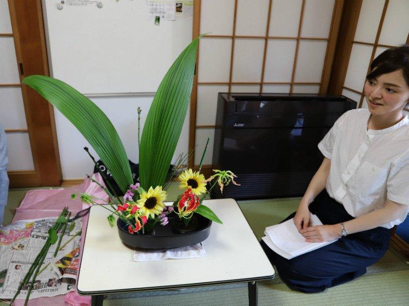 Stole Ikebana-kursist